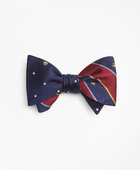Argyll Sutherland and Golden Fleece® with Dot and Golden Fleece® Reversible Bow Tie Burgundy-Navy