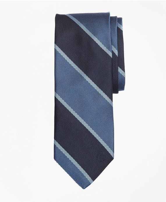 FC Internazionale Milano Striped Silk Tie Blue