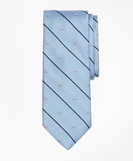 Tennis Racket and Stripe Tie