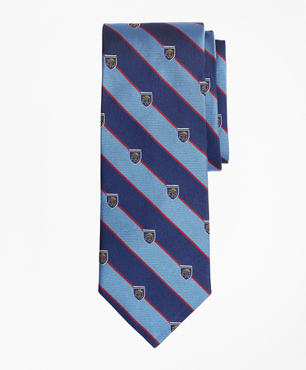 Rugby Stripe Tie with Golden Fleece® Shied