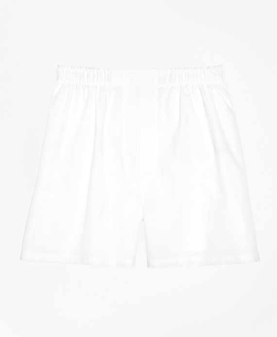 Traditional Fit Broadcloth Boxers White