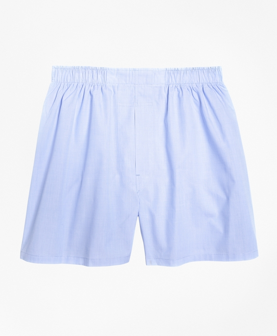Traditional Fit End-on-End Boxers Light Blue