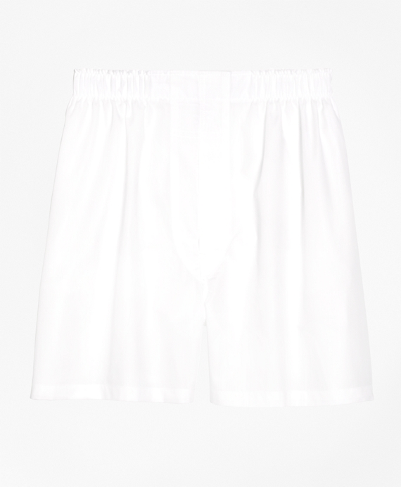 Slim Fit Broadcloth Boxers White