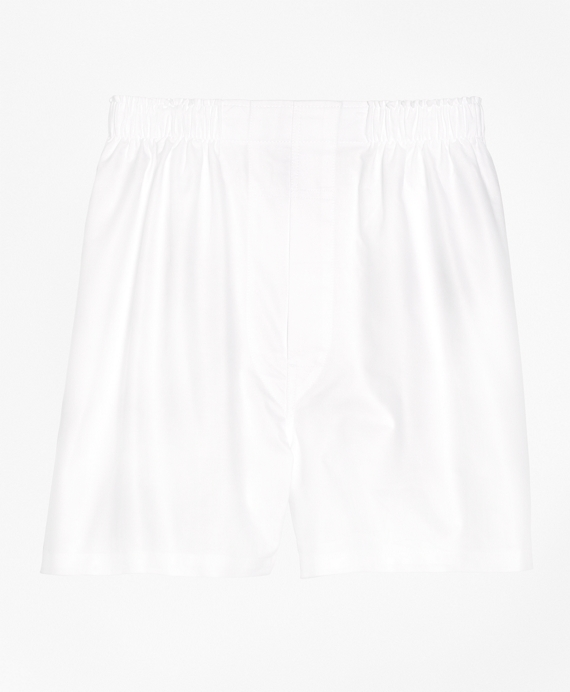 Slim Fit Oxford Boxers White