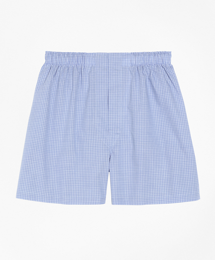 Traditional Fit Mini Check Boxers