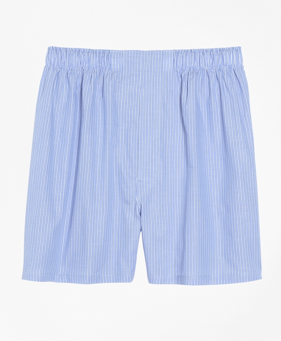 Slim Fit Pencil Stripe Boxers Blue