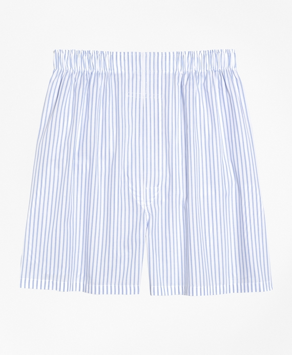 Slim Fit Ground Stripe Boxers White