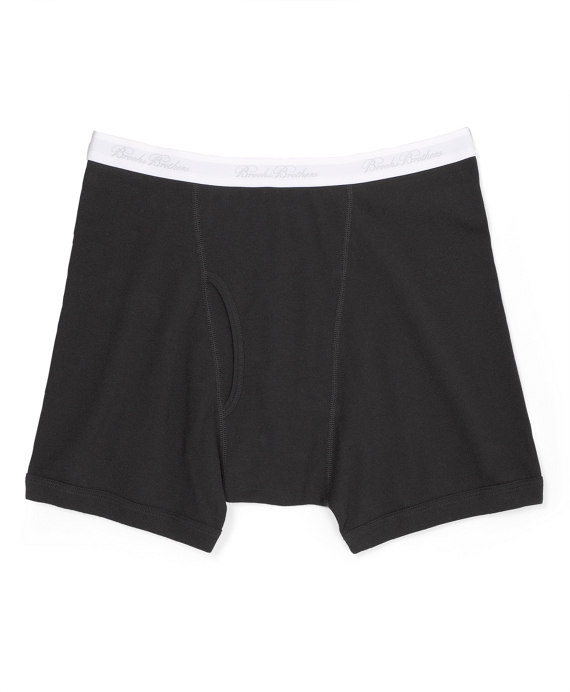 Supima® Cotton Boxer Briefs Black