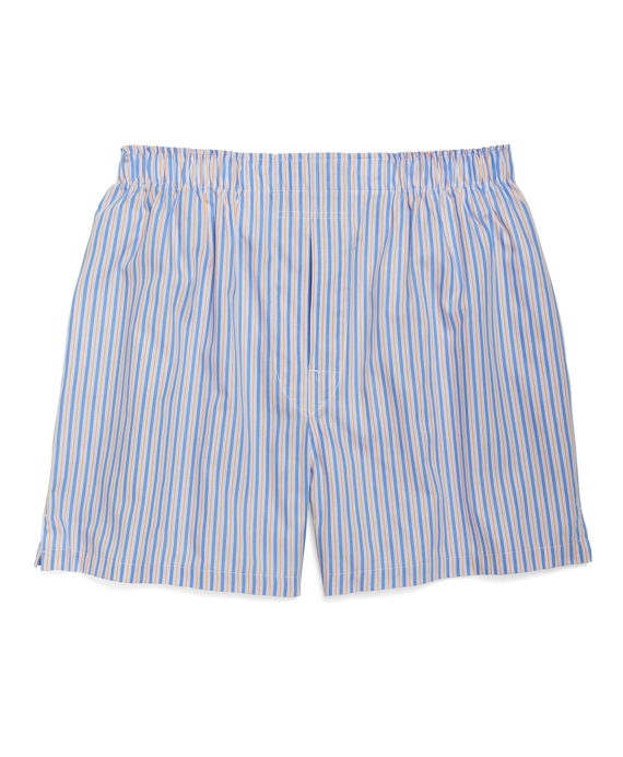 Traditional Fit Bar Stripe Boxers Blue-Orange