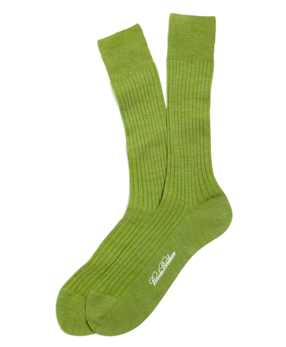 Ribbed Crew Socks Green