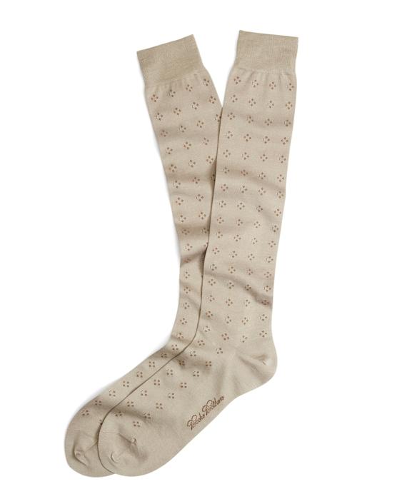 Double Neat Over-the-Calf Socks Khaki