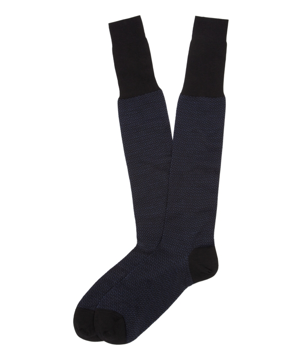 All-Over Navy Over-the-Calf Socks Navy