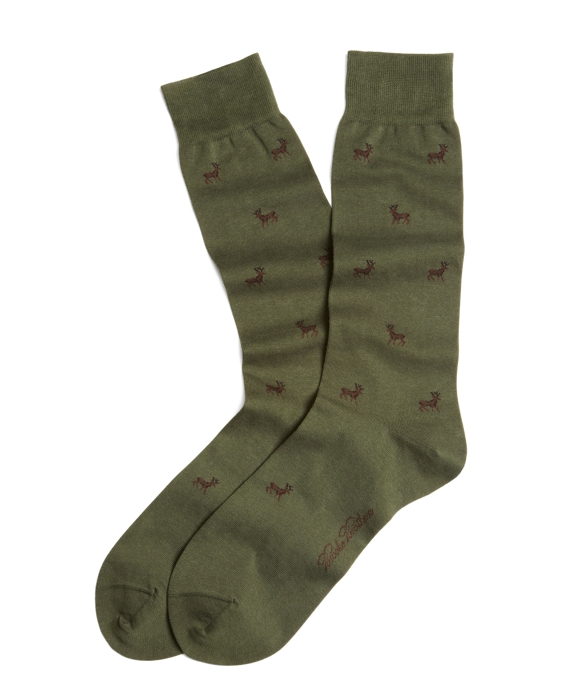 Moose Crew Socks Green