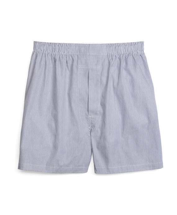 Slim Fit Mini Bengal Stripe Boxers Blue