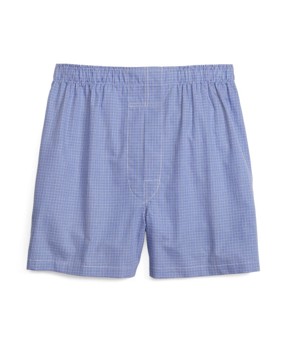 Slim Fit Ground Check Boxers Blue