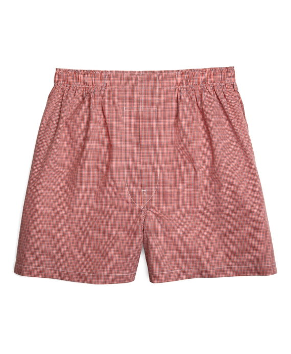 Traditional Fit Ground Check Boxers Rust