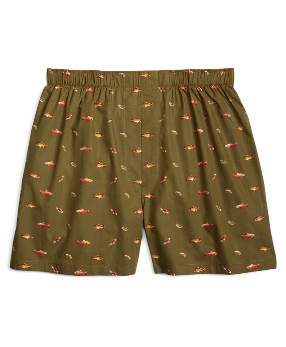 Traditional Fit Fly Fishing Boxers Sage