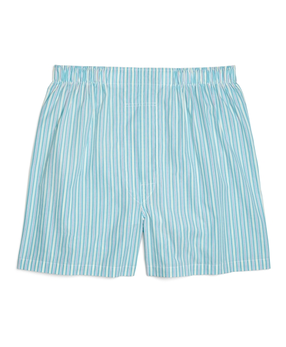 Traditional Fit Multistripe Boxers Green