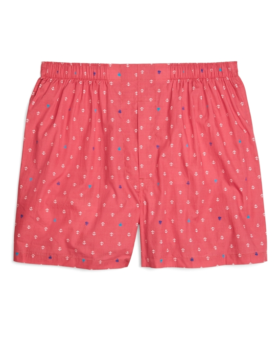 Traditional Fit Golden Fleece® Anchor Boxers Red