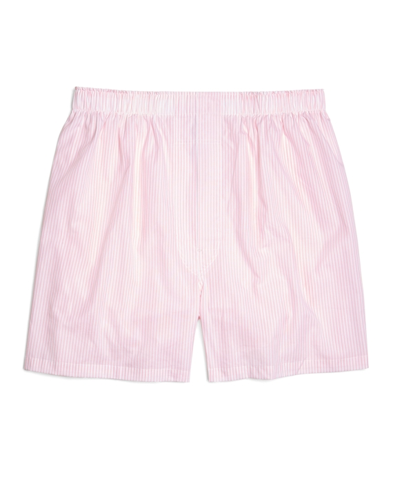 Traditional Fit Bengal Stripe Boxers Pink