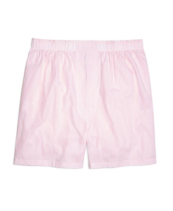 Slim Fit Bengal Stripe Boxers Pink