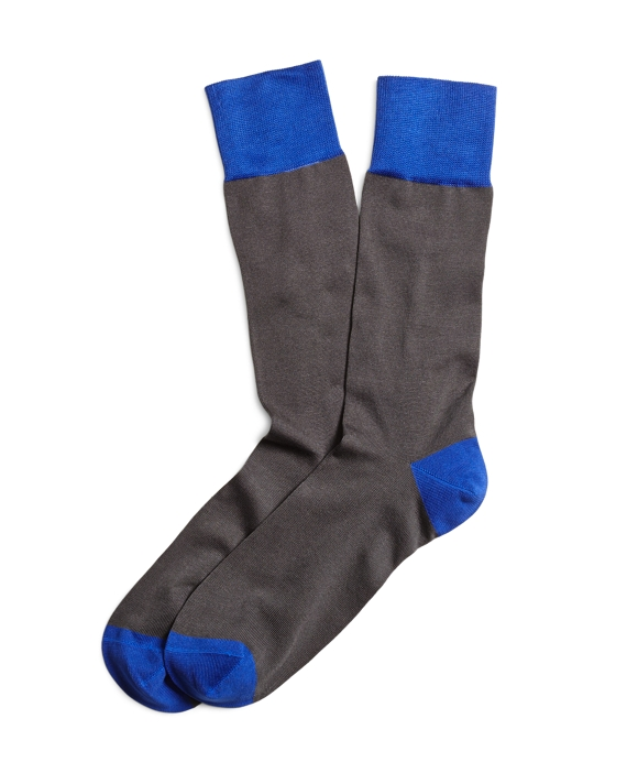 Two-Toned Crew Socks Grey