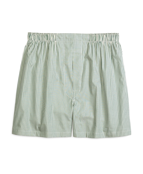 Slim Fit Bengal Stripe Boxers Green