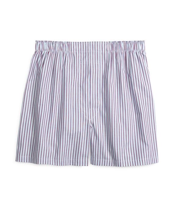 Slim Fit Framed Stripe Boxers Blue