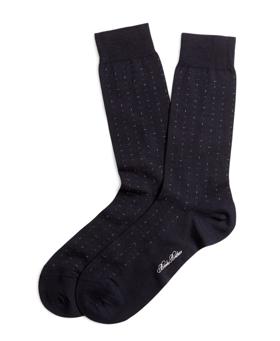 Dotted Socks Navy