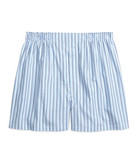 Traditional Fit Tonal Stripe Boxers Blue