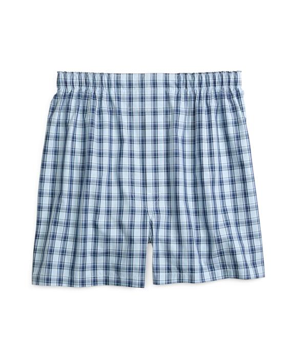 Slim Fit Framed Check Boxers Blue