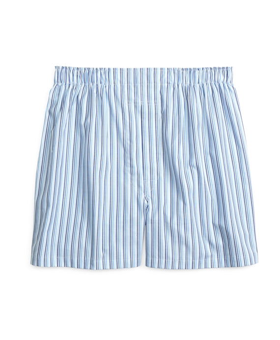 Slim Fit Tonal Stripe Boxers Blue