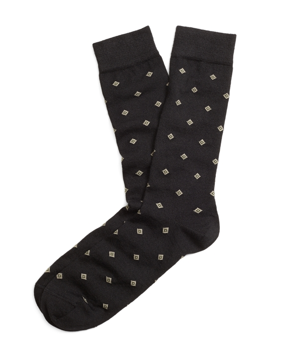 Diamond Crew Socks Black