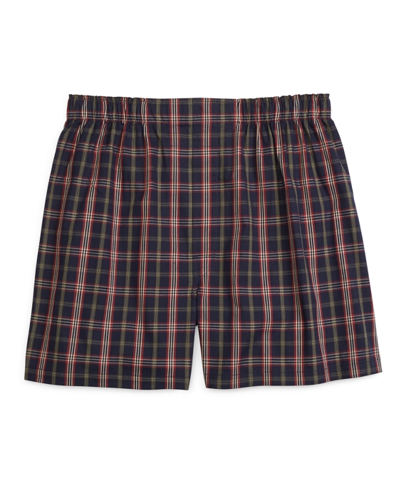 Traditional Fit Signature Tartan Boxers Navy