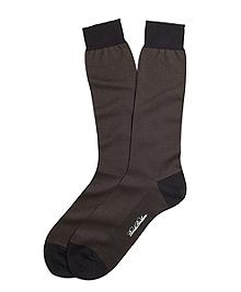 Muted Stripe Crew Socks