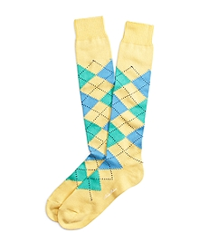 Argyle Over-the Calf Socks