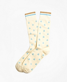 Anchor Motif Crew Socks