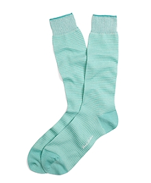 Textured Stripe Crew Socks