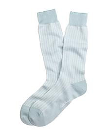Pastel Herringbone Crew Socks