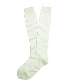 Pastel Herringbone Over-the Calf Socks