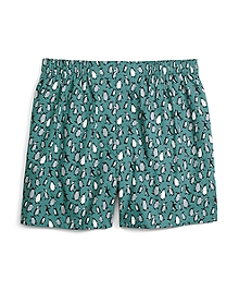 Slim Fit Penguin Print Boxers
