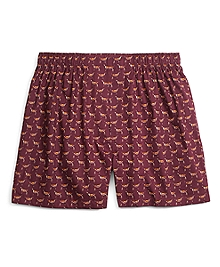 Traditional Fit Dog Print Boxers