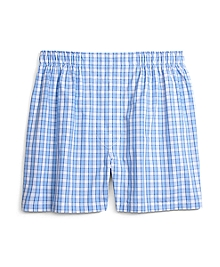 Slim Fit Plaid Boxers
