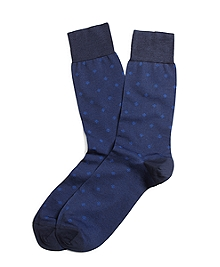 Small Medallion Crew Socks