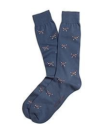 Dog Motif Crew Socks