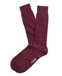 Textured Cable Crew Socks