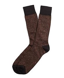 Donegal Herringbone Crew Socks