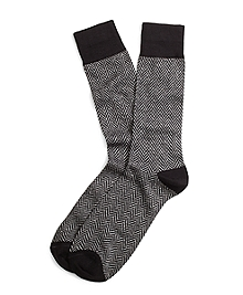 Donegal Herringbone Crew Socks