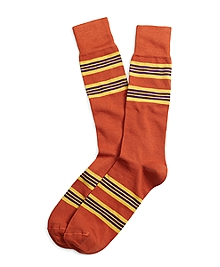 Triple Stripe Crew Socks