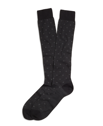Small Medallion Over-the-Calf Socks